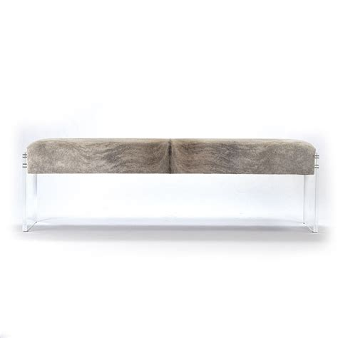 lucite bench zentique acrylic hide bench