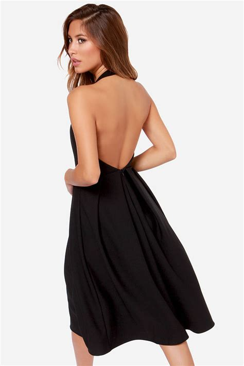 Lulus Exclusive Offer Get 15 On Fab Clothes by Black Dress Backless Dress Midi Dress 49 00