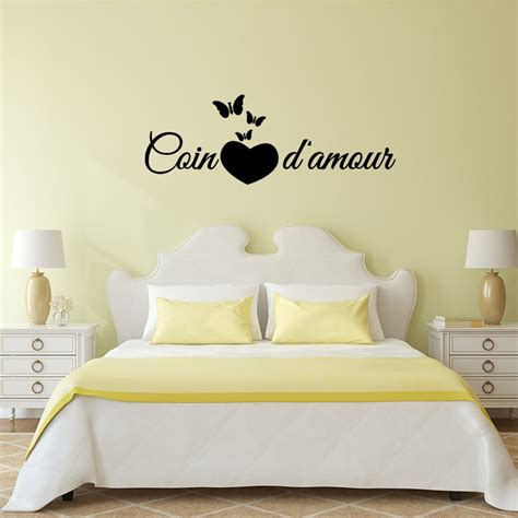 sticker citation chambre coin d amour pas cher stickers
