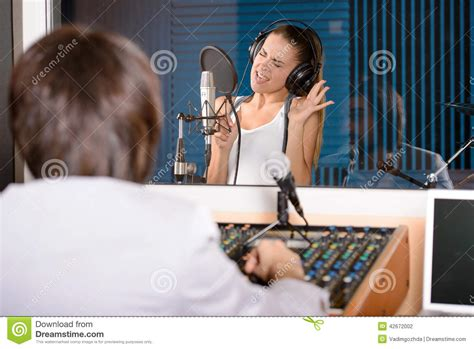Studio Technician by Recording Studio Stock Photo Image 42672002
