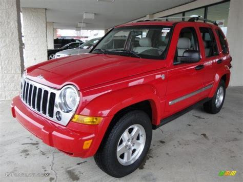 red jeep liberty 2005 2005 flame red jeep liberty crd limited 4x4 21940395