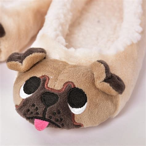 pug with pug slippers pug slippers 28 images womens slippers pug bow mules knitted s pug slippers