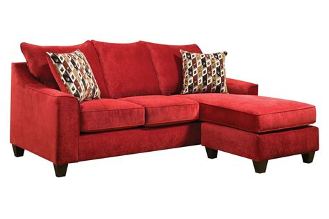 sectional with movable chaise elizabeth red sofa with moveable chaise at gardner white