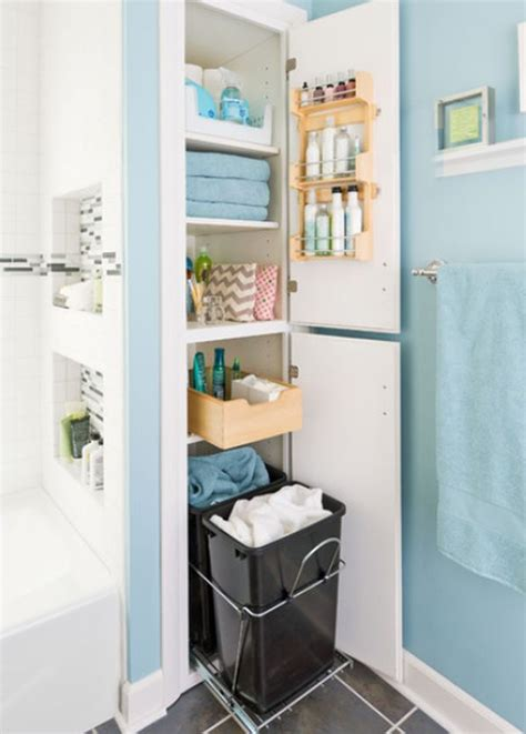 bathroom built in storage ideas 19 unexpected versatile and very practical pull out shelf