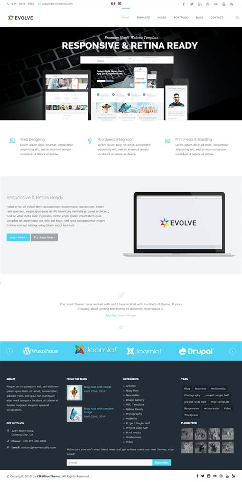 best responsive joomla minimal templates in 2015
