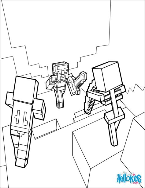 minecraft cookie coloring page minecraft coloring page dangerous dungeon fights