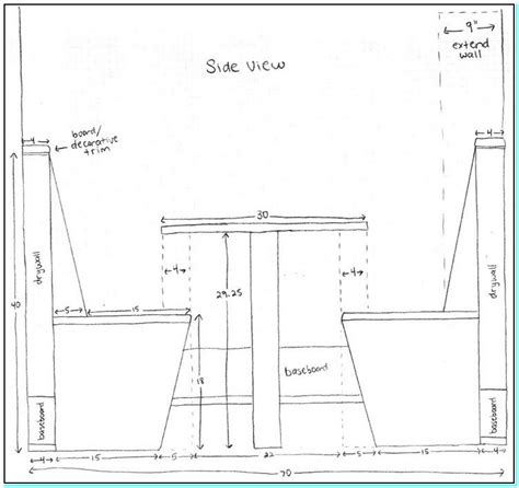dimensions for bench seating built in bench seating for kitchen dimensions