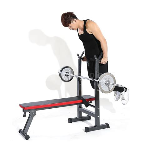 foldable fitness bench tomshoo adjustable folding weight lifting flat incline
