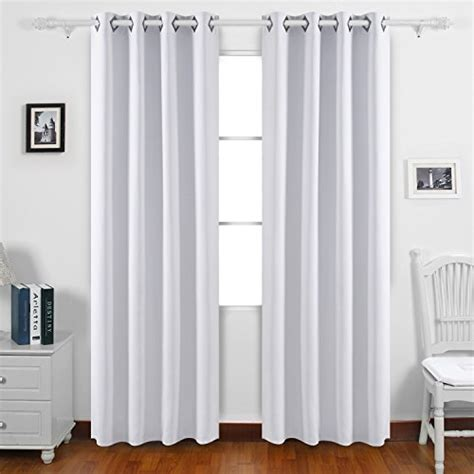 Dining Room Grommet Curtains Deconovo Solid Color Blackout Curtains Room Darkening