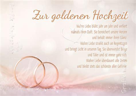 Goldene Hochzeit Karte by Karte 50 Hochzeitstag Suche Verse Spr 252 Che