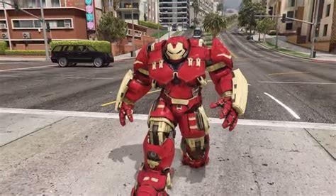 mod gta 5 hulkbuster gta 5 iron man s hulkbuster armour mod is unstoppable vg247