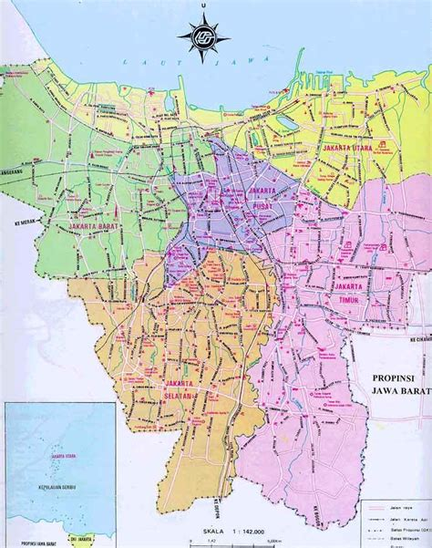 printable peta indonesia map of jakarta free printable maps