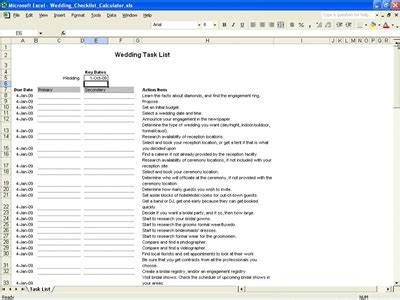 wedding task list excel template wedding task list wedding tasks list