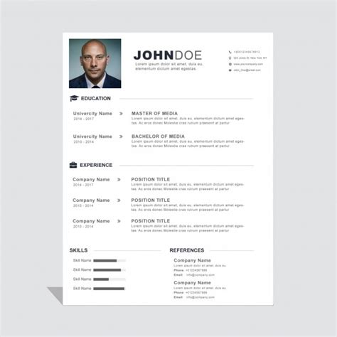 Curriculum Template Free by Corporate Curriculum Vitae Template Vector Free