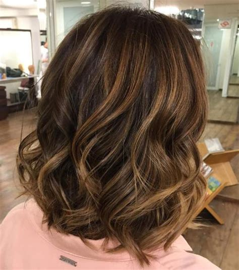 balayage short hairstyles 2014 60 looks with caramel highlights on brown and dark brown hair