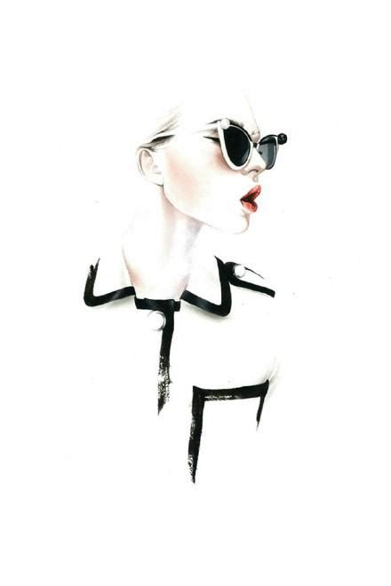 fashion illustration with quote modern and white background stock illustration 手绘经典高跟鞋图片