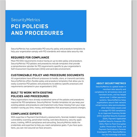 pci compliance security policy template policies template images exle resume templates