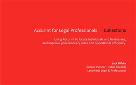 accurint® for legal professionals | verify identities and