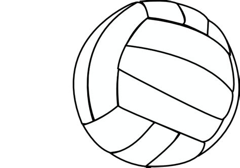 volleyball outline printable volleyball thin clip art at clker com vector clip art