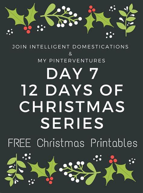 12 Days Of Printables