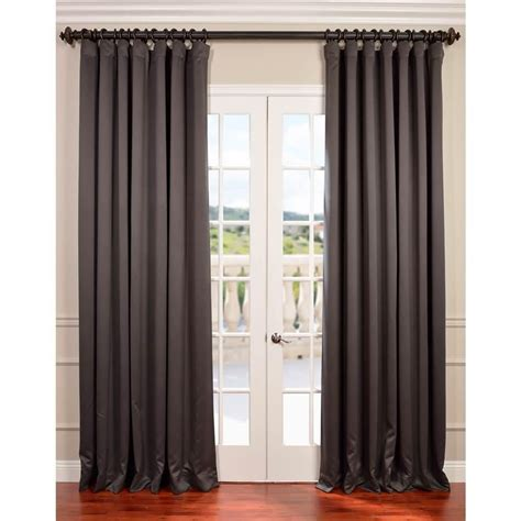 100 in curtains exclusive fabrics furnishings anthracite grey doublewide