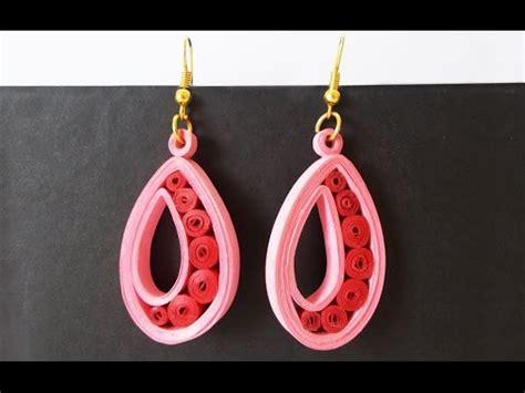 easy quilled earrings tutorial paper earrings for