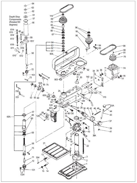 drill press parts diagram buy wilton 2550 replacement tool parts wilton 2550 drill