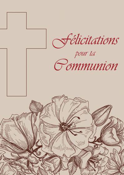 carte de voeux ere communion