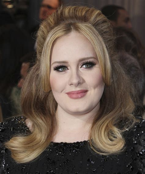 adele hair color adele casual half up hairstyle