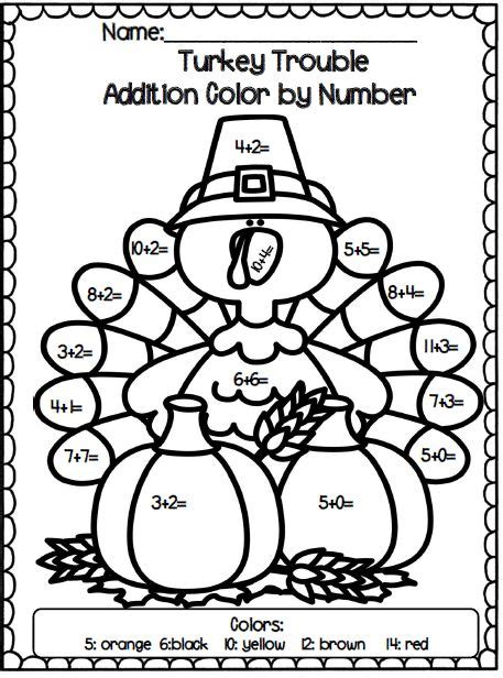 turkey trouble coloring page 22 best literacy turkey trouble images on pinterest
