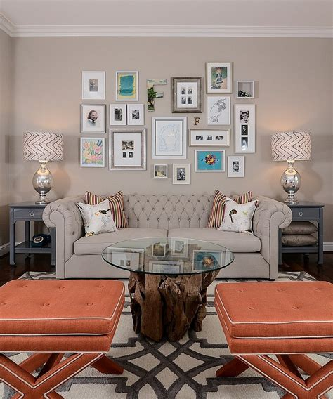 gallery wall designer chic living room decorating trends to watch out for in 2015
