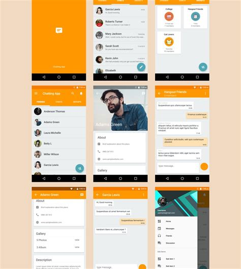 layout used in android design 7 android templates to inspire your next project