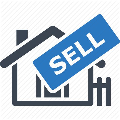 house real estate sell home sell sign icon icon