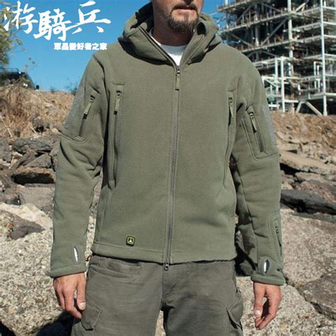 Jaket Hoodie Parka Navy tactical tad fleece polartec jacket thermal breathable hiking sports tactical thermal
