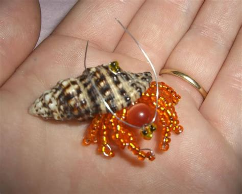 bead bug crab in a shell beaded bugs beaded insect book bead