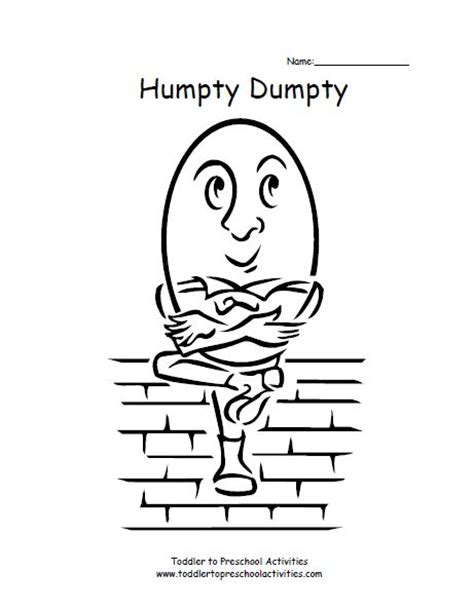 humpty dumpty coloring page coloring pages pinterest