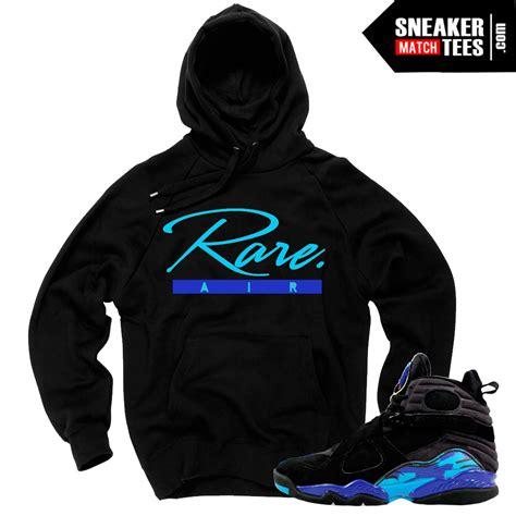 sneaker hoodies aqua 8s match t shirts retros black friday