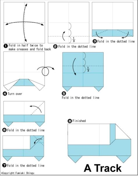 printable origami truck instructions truck origami instructions miscellaneous origami and