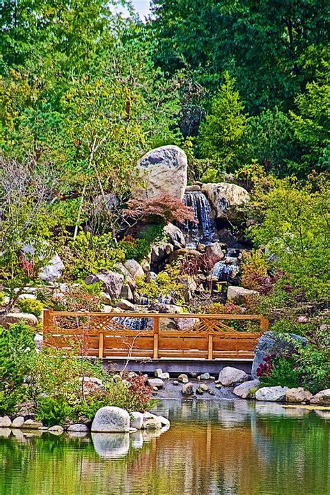 South Waterfall In Japanese Garden In Meijer Gardens In Meijer Botanical Garden