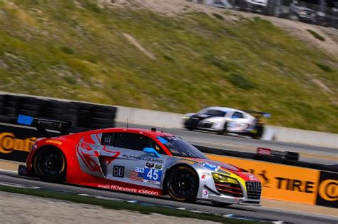 paul miller audi paul miller racing audi r8 lms on podium at laguna seca