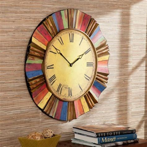 colorful wall clocks 30 large wall clocks that don t compromise on style