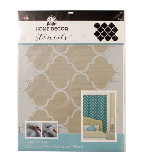 folkart home decor wall stencil trellis jo