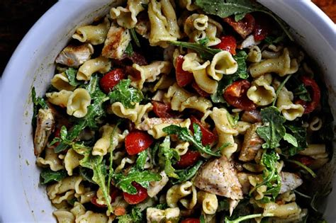 pasta salad pesto pesto pasta salad with grilled chicken by the parsley