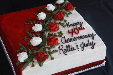 40th Anniversary Cake   Food   Pinterest   Cakes