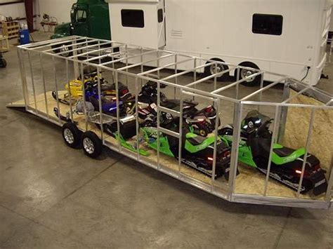 Wide Floor Plans by How To Load An Inline Snowmobile Trailer Grandville