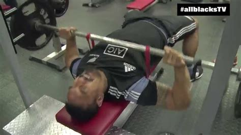 rugby bench press all blacks gym session banded bench presses youtube