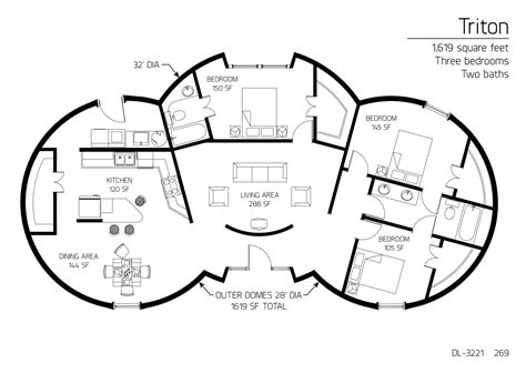 monolithic dome homes floor plans floor plan dl 3221 monolithic dome institute