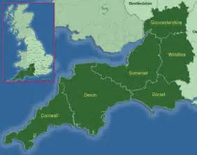 west country map south west