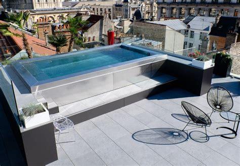 Piscine Hors Sol Moderne by Piscine Inox Hors Sol Sur Terrasse Modern Pools