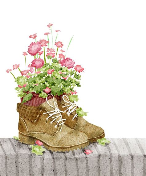 Flower Shoes by 708 Best Flowers Nature And Gardening Illustrations